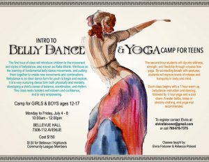 Bellydance and yoga camp for teens poster