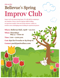 Spring Improv Club poster